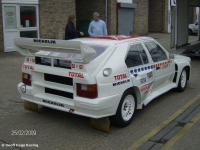 Very rare works Citroen BX Group B rally car